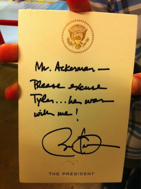 Obama note